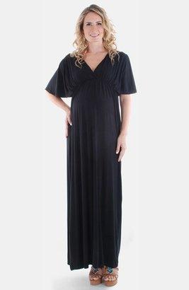 Women's Everly Grey 'Goddess' Maternity Maxi Dress $75 thestylecure.com