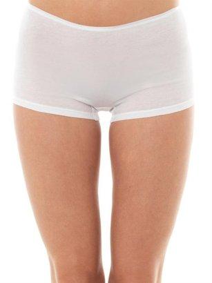 Hanro Seamless Cotton Boy-short Briefs - White