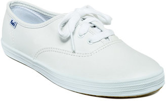 Keds Women's Champion Leather Oxford Sneakers $50 thestylecure.com