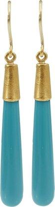 Yossi Harari Turquoise Cone Earrings