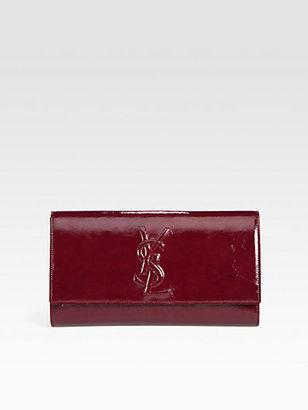 Saint Laurent Large Patent Leather Clutch