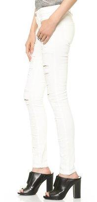 Blank Destroyed Skinny Jeans