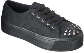 Xhilaration Women's Saraphina Studded Platform Sneaker - Black