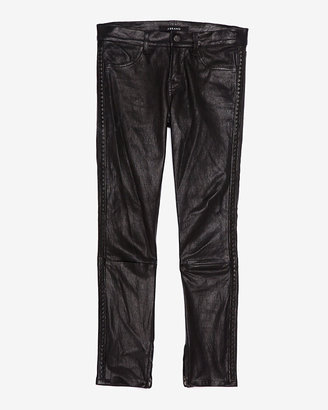 J Brand Studded Crop Leather Pant