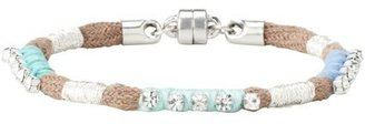 LOFT Multicolored Thread and Rhinestone Bracelet
