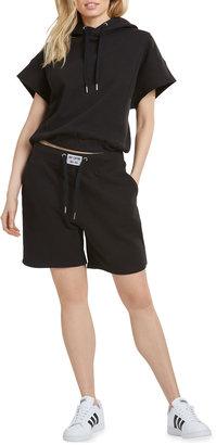 Logo Patch High-Waist Shorts