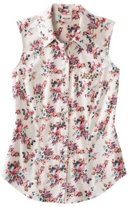 Mossimo Juniors Button Down Top - Assorted Colors