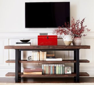 """Pottery Barn Griffin 70"""" Reclaimed Wood Media Console"""