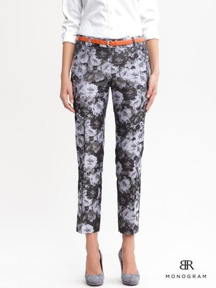 Banana Republic BR Monogram floral crop