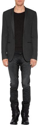 Each Other Black Hemp-Blend Tuxedo Jacket