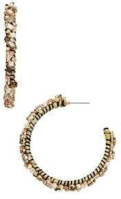 BaubleBar Antares Simulated Pearl Hoop Earrings