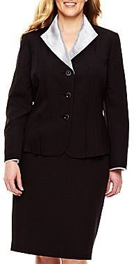 JCPenney Le Suit Jacket and Skirt Suit - Plus