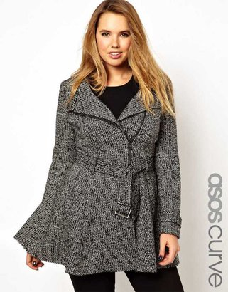 Asos Fit & Flare Biker Coat