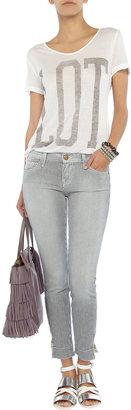 Current/Elliott The Quartermaster striped mid-rise skinny jeans