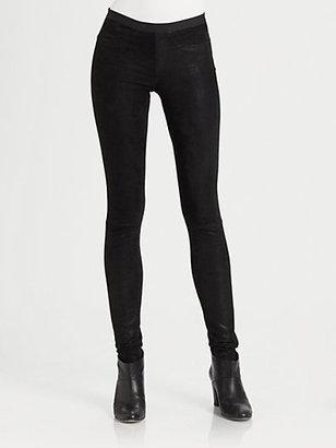 Helmut Lang Patina Glossy Leather Leggings