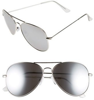 Junior Women's Bp. Mirrored Aviator 57Mm Sunglasses - Silver Revo/ Silver $12 thestylecure.com
