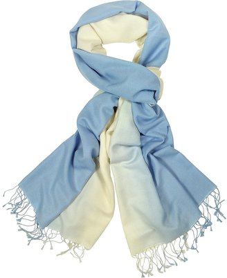 Forzieri Two Tone Pashmina and Silk Fringed Shawl