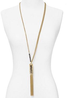 "T Tahari Deco Lace Tassel Pendant Necklace, 36"""