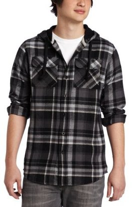 Subculture Men's Tonight Subculture's Flannel Hood Shirt