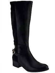 Liz Claiborne New York Riding Boots with Buckle Detail $32.14 thestylecure.com