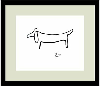 """Amanti art """"Le Chien (The Dog)"""" by Pablo Picasso Framed Wall Art"""