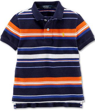 Ralph Lauren Shirt, Little Boys Short-Sleeve Striped Mesh Polo