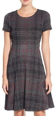 Betsey Johnson Print Ponte Fit & Flare Dress $148 thestylecure.com