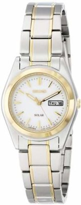 Seiko Women's SUT108 Two-Tone Stainless Steel Solar Watch $205 thestylecure.com