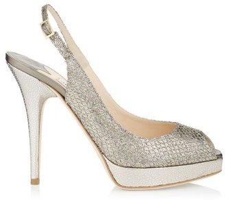 Jimmy Choo Clue Glitter Platform Sandals
