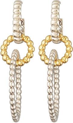 John Hardy Interlocking Hoop Drop Earrings