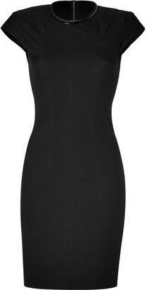 L'Agence LAgence Black Cap Sleeve Sheath Dress