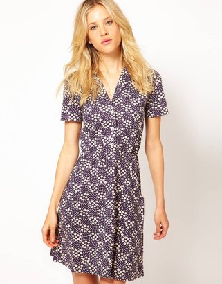 People Tree Aimée by Organic Jersey Floral Shirt Dress