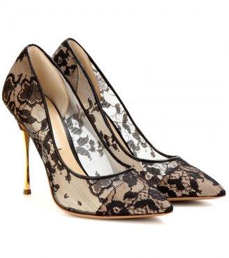 Nicholas Kirkwood Lace pumps with metallic stiletto heel