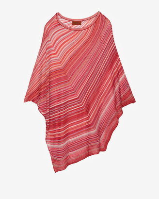 Missoni Metallic Stripe Poncho: Red