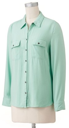 Croft & barrow ® solid twill shirt