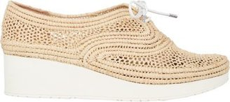 Robert Clergerie Women's Vicolei Wedge Oxfords-NUDE $395 thestylecure.com