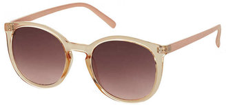 Topshop Preppy Clear Black Round Sunglasses