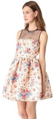 RED Valentino Polka Dot Flower Dress