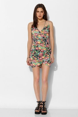 Reverse At The Copa Floral Surplice Dress