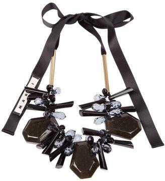 Marni resin and ribbon necklace