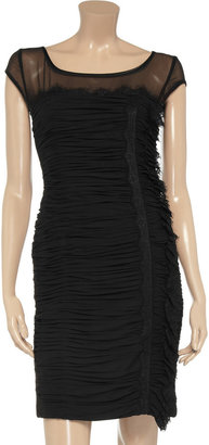 Mikael Aghal Ruffled silk-chiffon dress