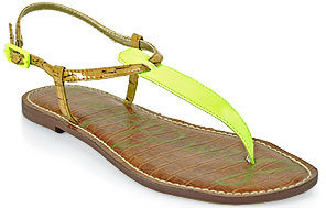 Sam Edelman Gigi - Thong Sandal in Neon Yellow