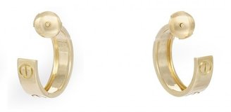 Cartier excellent (EX 18k Yellow Gold Love Collection Motif Earrings Ref: B8022500