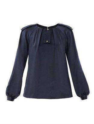 Prabal Gurung Embellished silk blouse