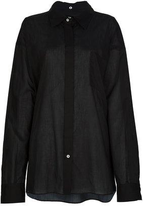 Maison Martin Margiela oversize semi-sheer shirt
