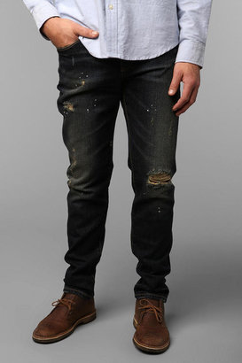 Urban Outfitters Standard Cloth Dark Damage Skinny Jean