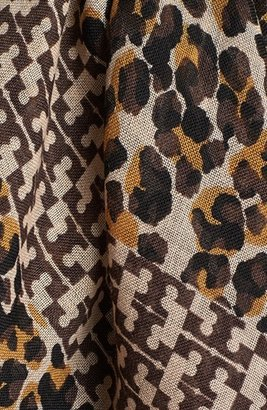 Tory Burch 'Panthra - Small T' Wool Scarf