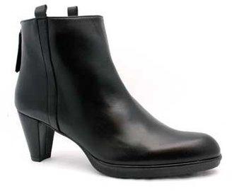 "Stuart Weitzman Renew"" Black Leather Ankle Boot"