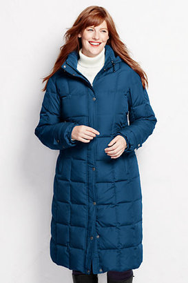 Lands' End Women's Plus Size Down Chalet Long Coat