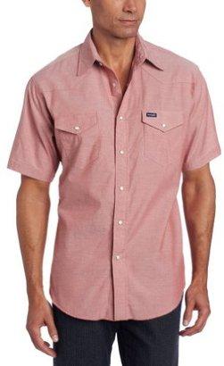Wrangler Men's Work Shirts Basic Rust